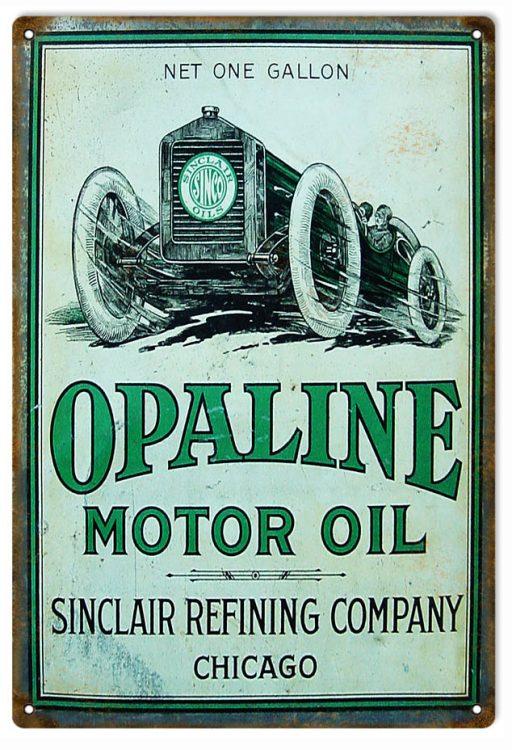 Sinclair Opaline Motor Oil, Aged