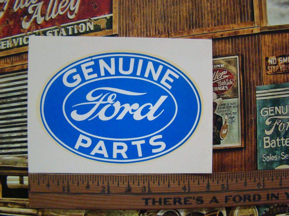 Vintage original 1960s genuine ford parts large water slide decal
